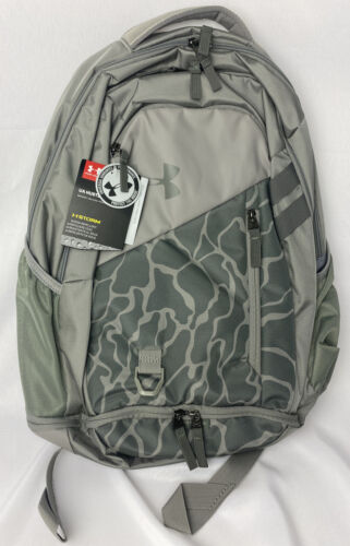 Under Armour UA Hustle 4.0 Storm Backpack School Laptop Book Bag Gray /& Camo New