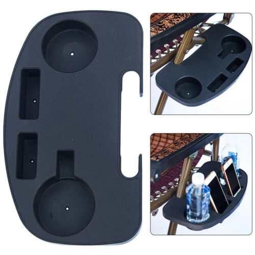 Folding Reclining Chair Clip-on Side Tray Cup Drink Holder Garden Lounger Tray
