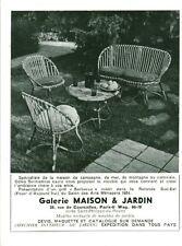 Publicité ancienne salon de jardin maison & jardin advertising 1954