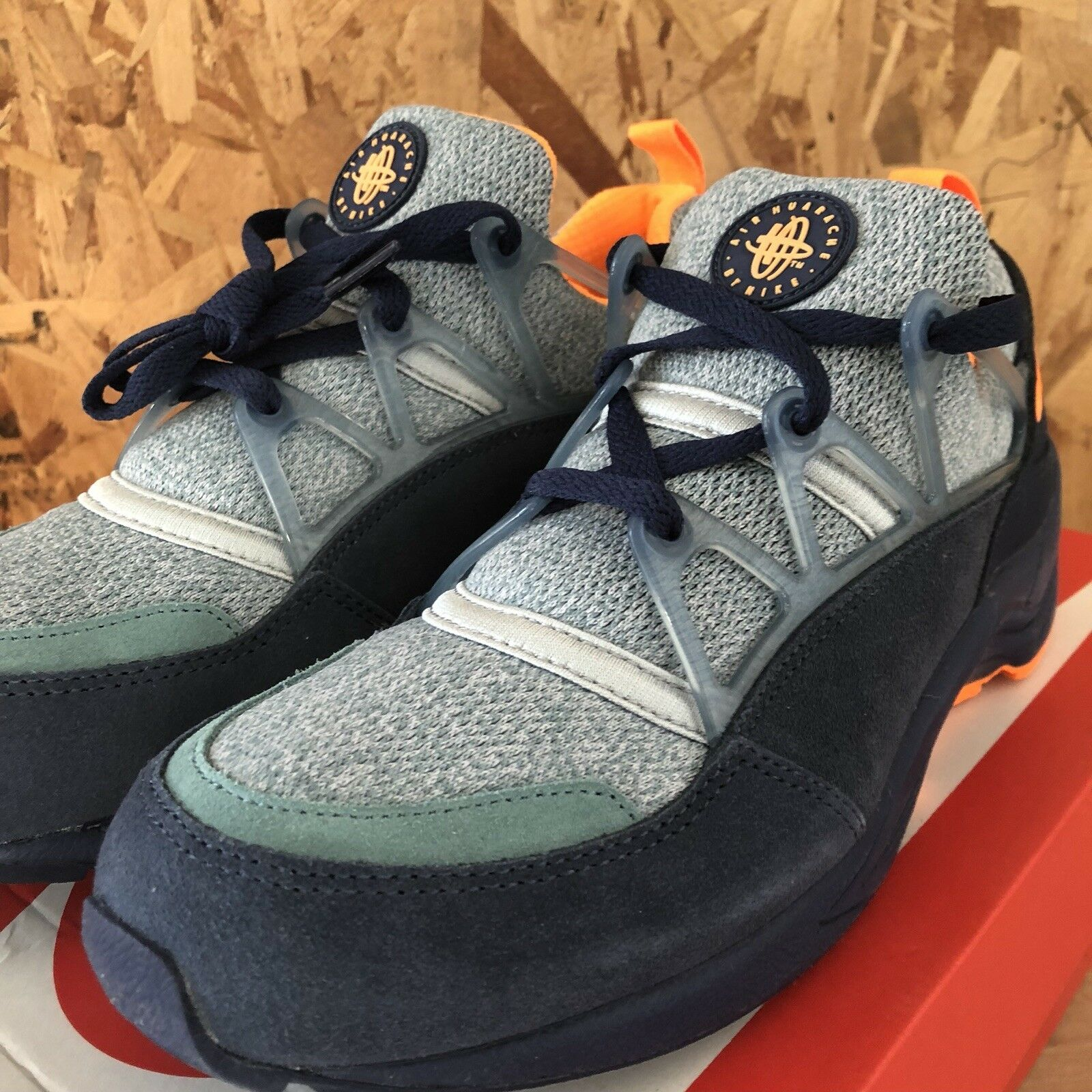 a10edc04f0 Nike Air Huarache Light Midnight Navy Bright Citrus Squadron bluee Size 8 -  nchern3949-Athletic Shoes