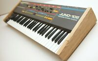 Roland juno 106 custom wood sides end cap part (pair) 'Tamo' japanese hardwood