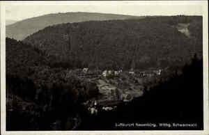 Neuenbuerg-Schwarzwald-alte-Ansichtskarte-1932-gelaufen-Panorama-Blick-ins-Tal