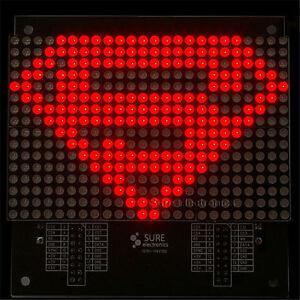 24-X16-2416-Red-LED-3mm-Dot-Matrix-Display-Information-Display-Board