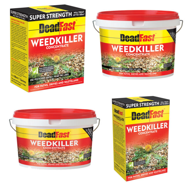 DeadFast Weedkiller Strong Glyphosate Herbicide Super Strength Concentrate
