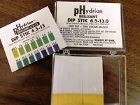 Micro Essential Lab Ph Brilliant Dip Stick Test Strip Paper 6.5 To 13 7600