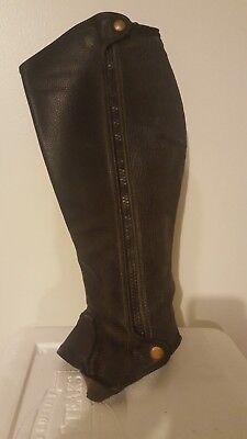 Black Calf 13//Height 17 Tredstep Ireland Deluxe Half Chaps