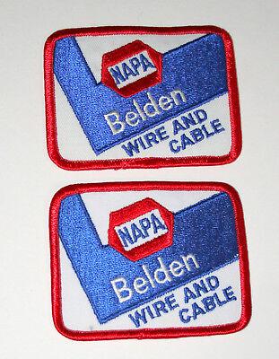 2 NAPA Auto Parts Belden Racing Spark Plug Wire /& Cable New NOS Cloth Patch