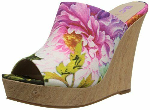 BC Footwear Women's Terrier Wedge Wedge Wedge Sandal, Fuchsia Floral, Size 5.5 0a617a