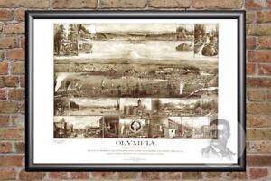Vintage Olympia, WA Map 1903 - Historic Washington Art Old Victorian ...