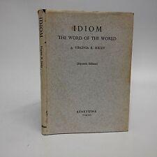 Idiom The Word of the World-Virginia Baker Haley-1974-SIGNED/inscription-Langu..