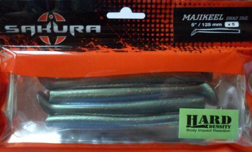 Leurre souple Sakura Majikeel Shad Tail Hard 12,5cm Smelt