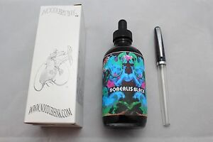 NOODLERS-INK-4-5-OZ-BOTTLE-BOREALIS-BLACK-WITH-FREE-FOUNTAIN-PEN