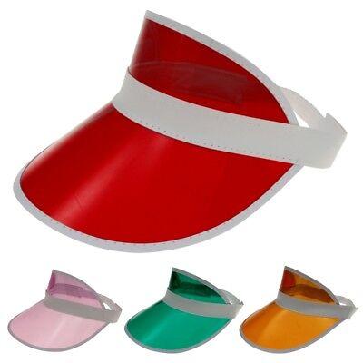 4x Visor Retrò Cap Cappello Sole Visiera Trasparente Plastica Mascherina Berretto-mostra Il Titolo Originale Per Migliorare La Circolazione Sanguigna