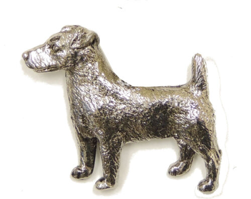 Jack Russell Terrier Brooch Silver Finish