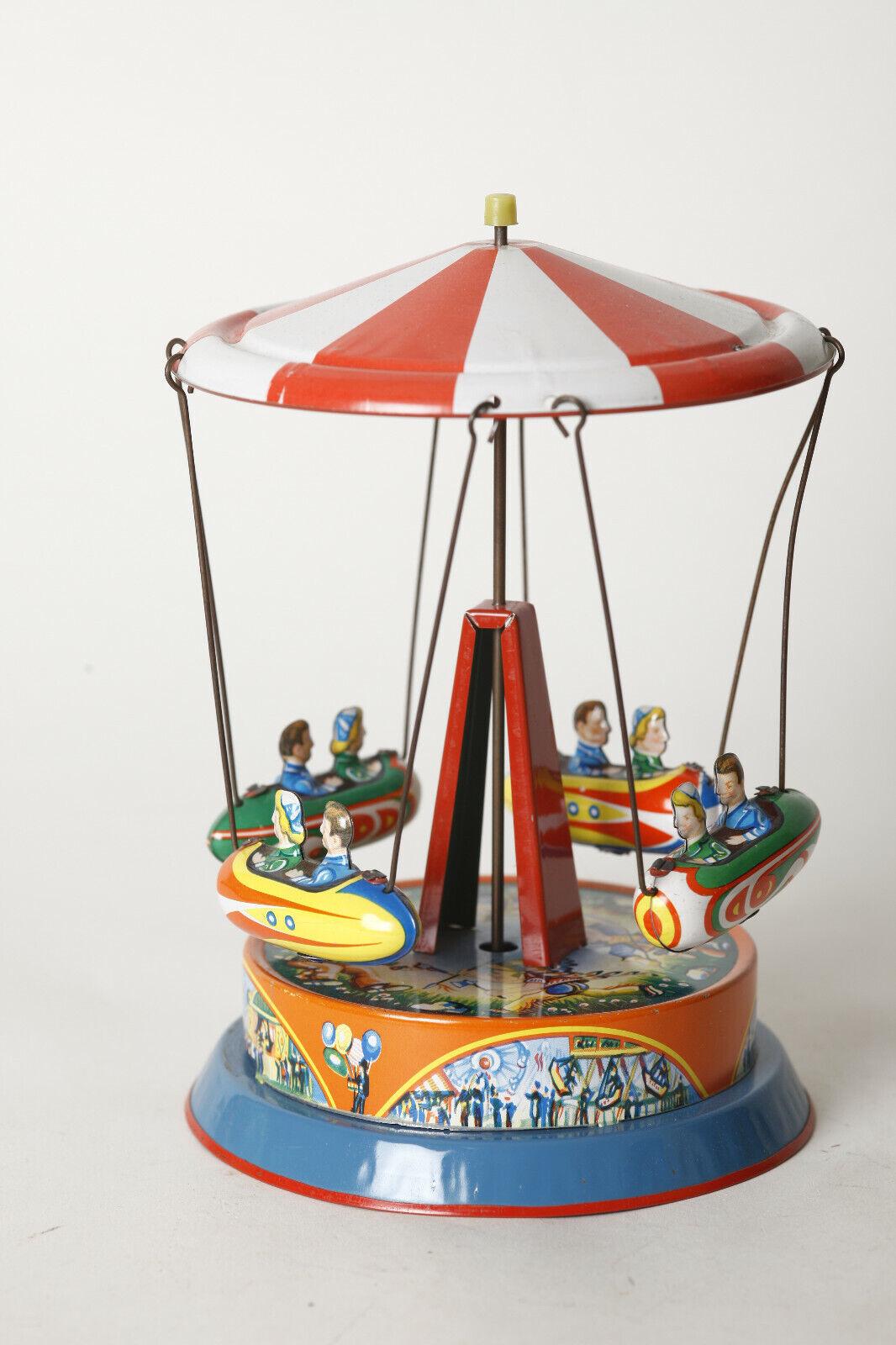 Tin Toy   Fair Ketten-Karussell Von B&S Jumbo, West-Germany (109941)