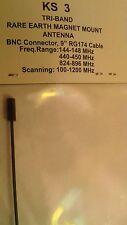 ALL BAND ham radio antenna Rare Earth Magnet w/ cable BNC Connector UHF VHF KS3