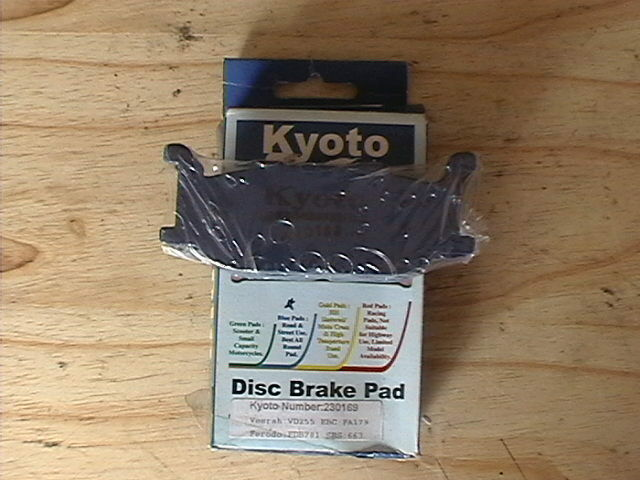 Brake Disc Pads Front Kyoto For Yamaha XV 750 F Virago 1994