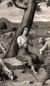 SANTINO HOLY CARD TELA CANVAS SANTA GENOVEFFA o7iDk3vf-09155429-134633235