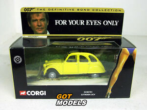 citroen 2cv corgi models james bond 007 for your eyes only cc85701 ebay. Black Bedroom Furniture Sets. Home Design Ideas