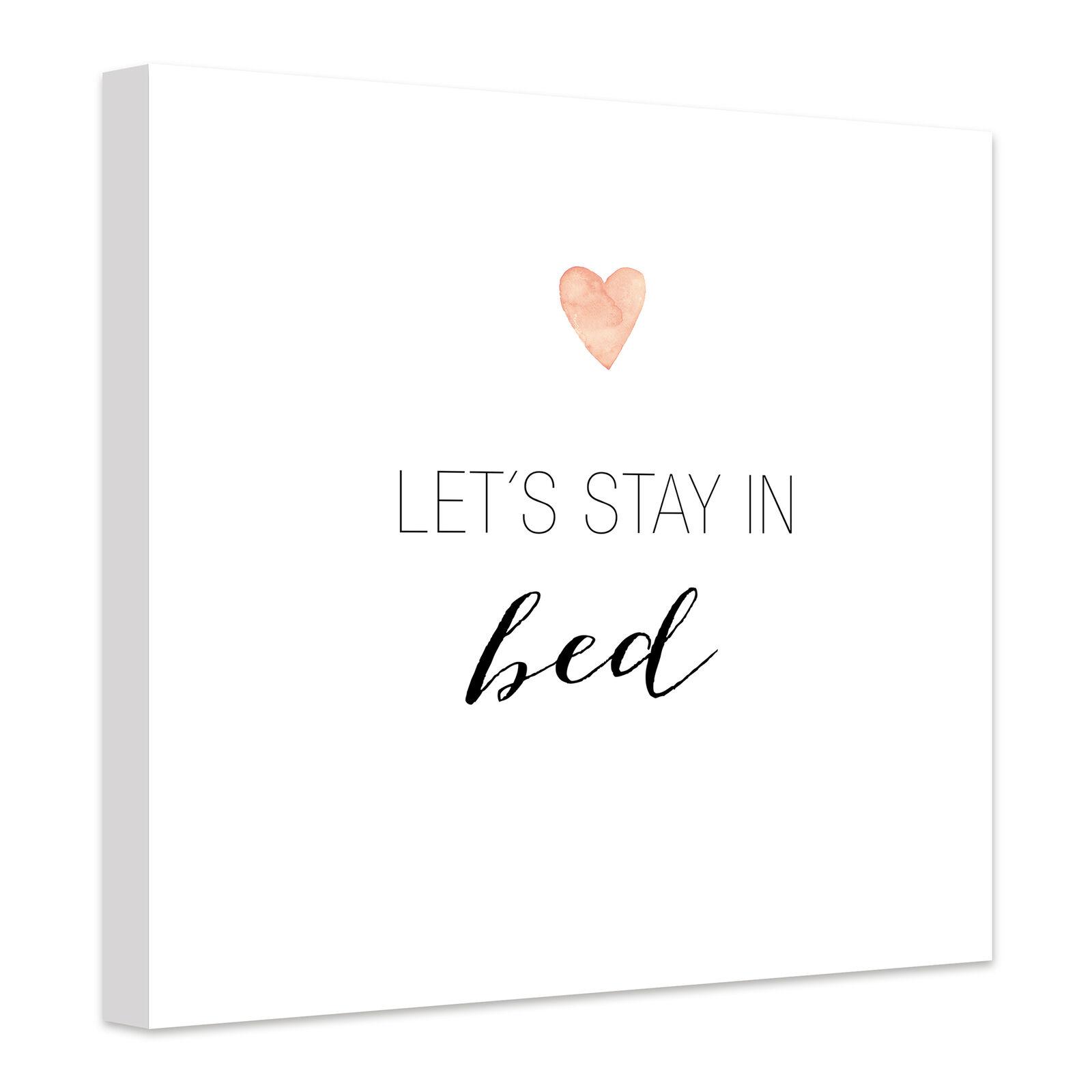 Leinwandbild Confetti & Cream - Let's stay in bed