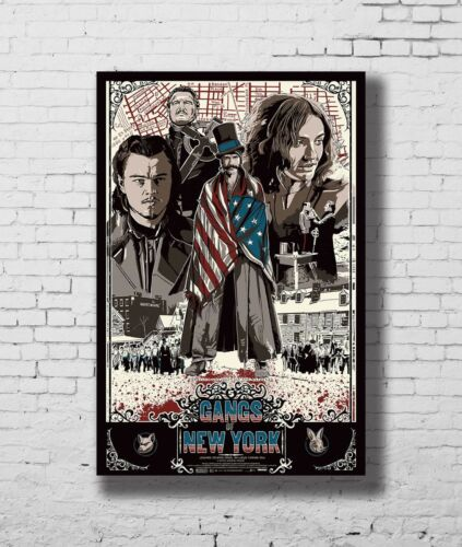 Details about  /P-279 Art Leonardo DiCaprio Gangs of New York Movie LW-Canvas Poster 24x36in