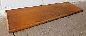 Image Is Loading 1910 Wooden ANTIQUE Solid Oak STAIR TREAD Craftsman