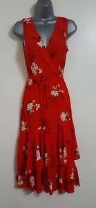 Ladies Ex warehse red daisy dress