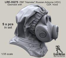 "Live Resin 35275 1/35 PBF ""Hamster"" Russian Airborne (VDV) Gasmask with OZK Hood"
