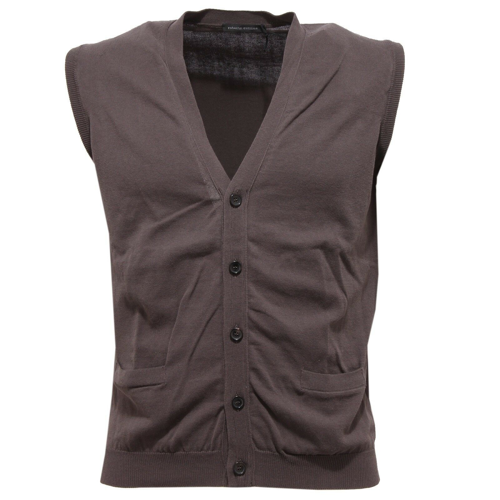82581 smanicato ROBERTO COLLINA COTONE maglione uomo sleeveless sweater men