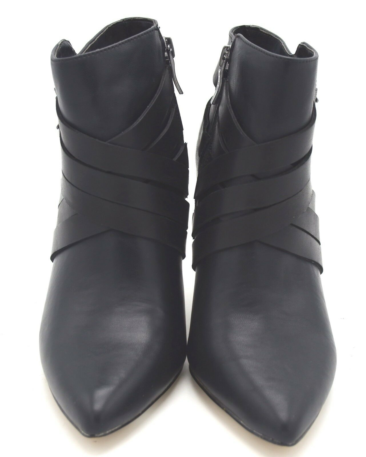 J6900 New Womens BCBGeneration Zing Black Leather Buckle Bootie 6 6 6 M 48e6c5