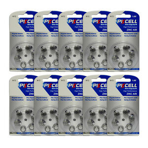 60pcs-Hearing-Aid-Batteries-Zinc-Air-Size-13-A13-PR48-1-4V-Batterien-Battery