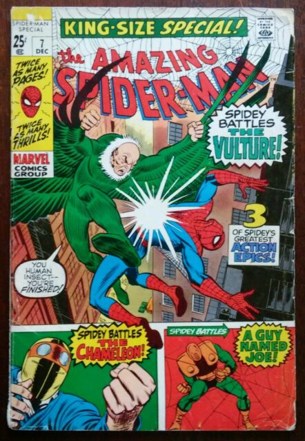 Amazing Spider-Man #7 King Size Special 1970 Marvel Ft Vulture Silver/Bronze VG-