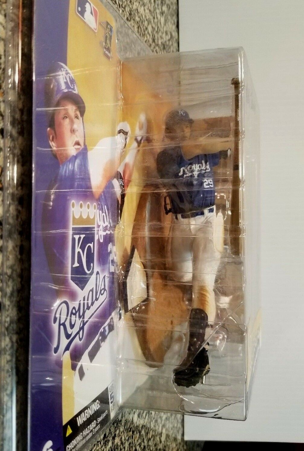 VERY VERY VERY RARE 2003 McFARLANE MLB KC Royal MIKE SWEENEY Figurine Artist Signed 9c47d9