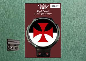 Royale Classic Car Badge & Bar Clip KNIGHTS TEMPLAR ENGLAND Mod B1.2497