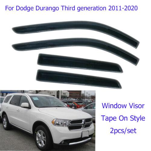 For 11-20 DODGE DURANGO Vent Window Visor Rain Guard Weather Shield Perfect Kit