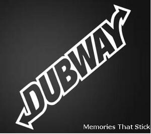 DUBWAY-Funny-Novelty-Car-Window-Bumper-JDM-VW-EURO-Vinyl-Decal-Sticker