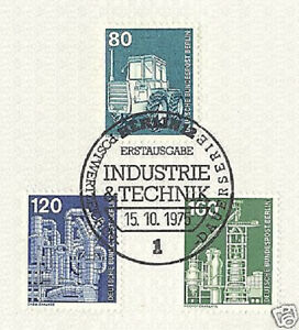 Berlin-1975-industry-and-technology-No-501-503-505-with-the-first-day-stamp-1510