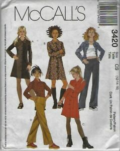 Shirt McCall/'s 4499 Girls Camisole Pants sewing pattern NEW Skirt 12-14-16