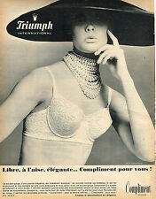 PUBLICITE ADVERTISING 015  1965  TRIUMPH  soutien gorge  COMPLIMENT