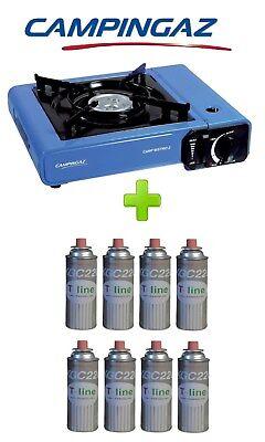 100% Vero Fornello Portatile A Gas Bistro Campingaz Con Valigetta + 8 Cartuccie A Gas Sconto Online