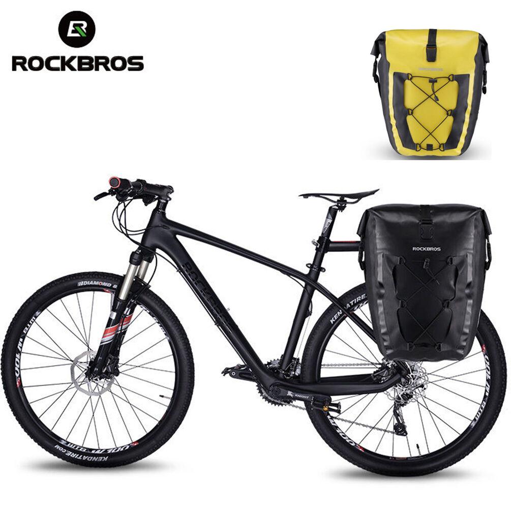 ROCKBROS Impermeable Alforja Bolsa Ciclismo Bici Bicicleta Soporte Trasero Seat de viaje