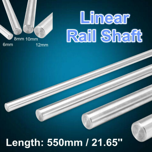 6//8//10//12mm 3D Printer Chromed Smooth Rod Steel Linear Rail Shaft 550mm  C