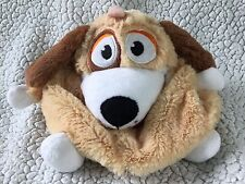"Tummy Stuffers Tan Puppy Dog Plush Animal 7"" Mini Toy Organizer"