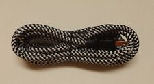 11' BLACK AND WHITE RAYON COVERED LAMP CORD SET POLARIZED PLUG 30271J