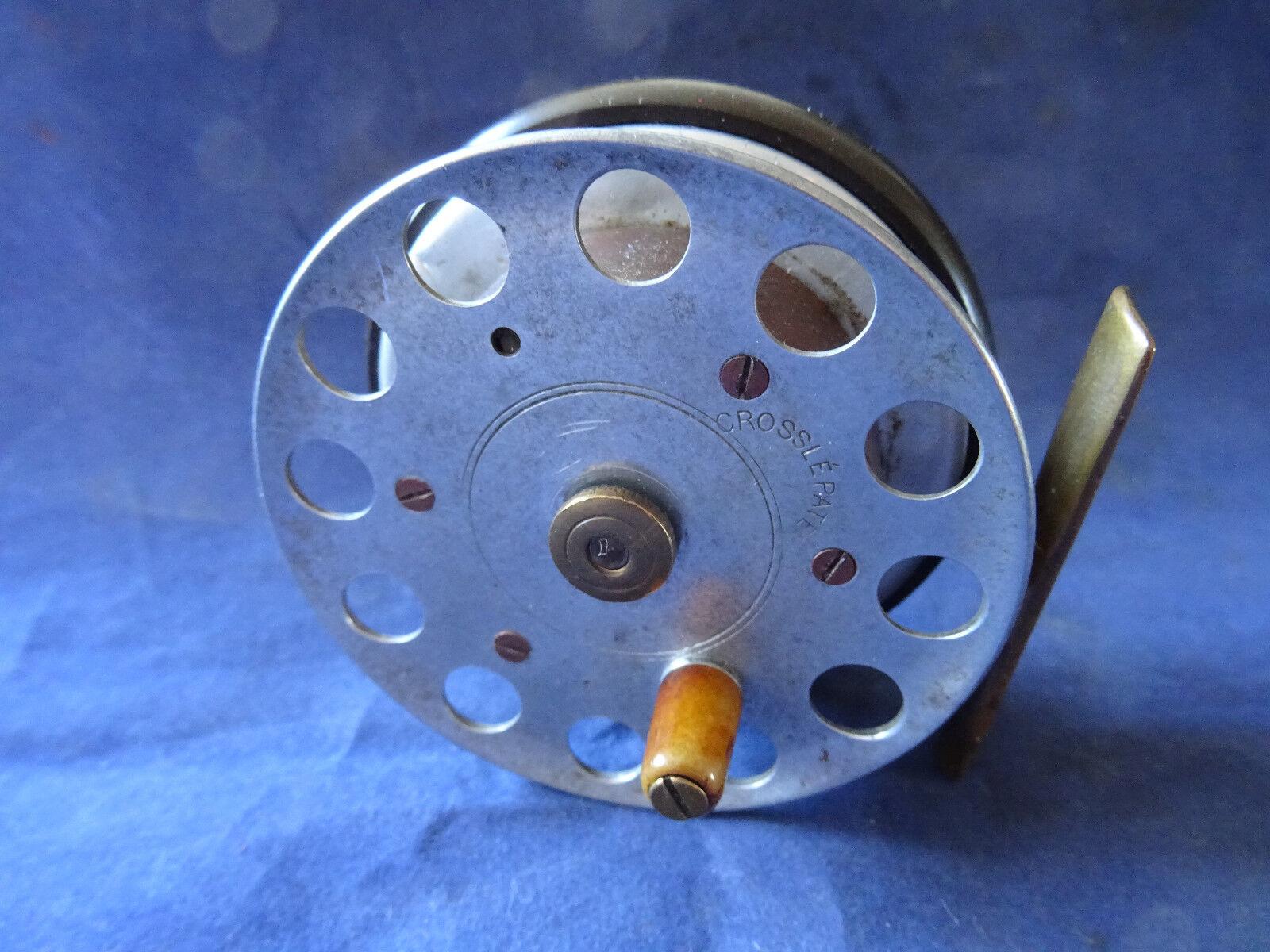 Una rara Vintage Milward Bartleet 3  crossle crossle crossle patente Reel De Pesca 79fb63