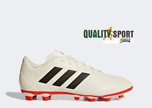 Caricamento dell immagine in corso Adidas-Nemeziz-18-4-FG-Bianco-Scarpe-Uomo - 58ade429884