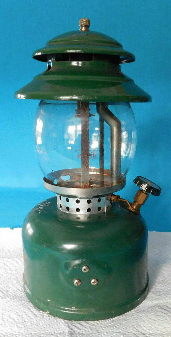 VINTAGE COLEMAN LP GAS LANTERN MODEL  5120 WITH GLOBE AND EMPTY CYLINDER  cheap in high quality