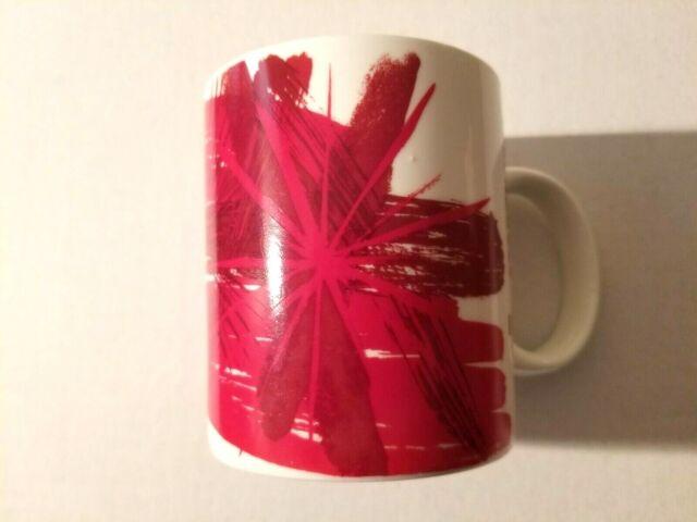 Porcelain Coffee Burst White 2014 Starbucks Red Star Cup Mug Christmas Ceramic vn08NmOyw