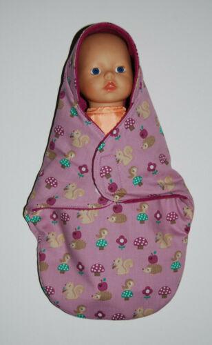 Puppen-Einschlagdecke Pucksack,für 32cm große Puppen Puppenwagen Puppenbett neu