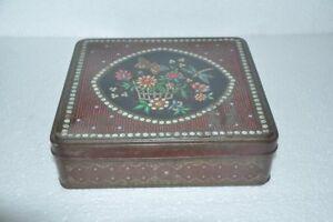 Vintage-Peek-Frean-amp-Co-Biscuits-Anuncio-Litho-Estano-Colorido-Caja-Inglaterra